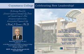 Cuyamaca College President announcement